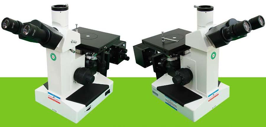 Obrnjeni_tri_objektivni_metalurski_mikroskop